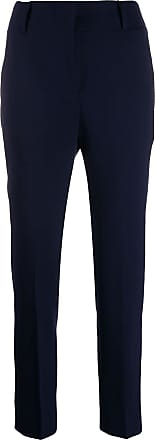 Incotex high-waisted slim-fit trousers - Blue