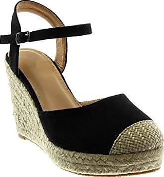 e3fa8e43cd37 Angkorly Damen Schuhe Sandalen Espadrilles - knöchelriemen - Plateauschuhe  - Seil - Geflochten - String Tanga