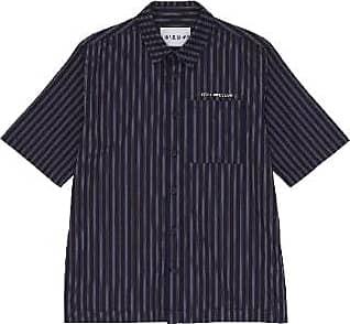 Han Kjobenhavn Navy Stripe Boxy Shirt - M