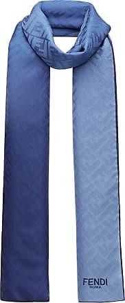 Fendi Echarpe de seda - Azul