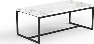 MYCS Beistelltisch Marmor, Weißer Carrara - Eleganter Nachttisch: Hochwertige Materialien, einzigartiges Design - 81 x 31 x 42 cm, Komplett anpassbar