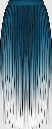 Reiss Mila - Ombre Pleated Midi Skirt in Teal, Womens, Size 16
