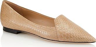 Tamara Mellon Grace Honey Elaphe Flats, Size - 35.5