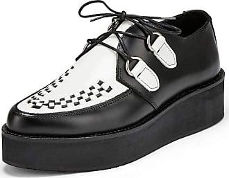 Undercover Womens Strummer Double Sole Creeper Shoe Black/White UK 4/EU 37