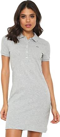 ae57971d50 Lacoste Vestido Polo Lacoste Curto Logo Cinza