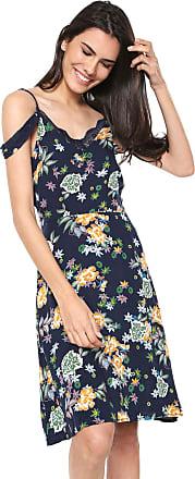 ad709e0773 Fiya Lady Vestido Fiya Lady Curto Renda Azul-marinho