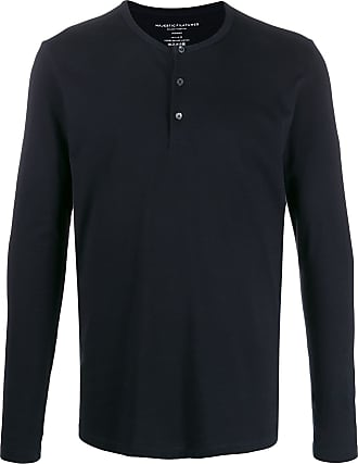 Majestic Filatures button-placket sweater - Azul