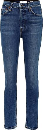 Re/Done Cropped high-rise skinny jeans