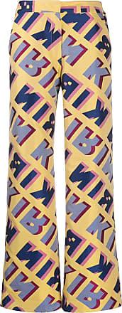 Kirin graphic-jacquard flared trousers - Yellow