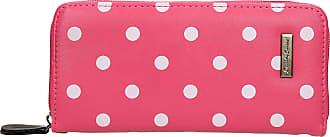 Swankyswans Bella Polka Dot Long Zip around Wallet Bubble Pink
