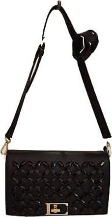 Ermanno Scervino ERMANNO CLUTCH ALIX ART. 12400112 Faux Leather Clutch Bag with REMOVABLE SHOULDER STONES BLACK COLOUR BLACK SIZE U