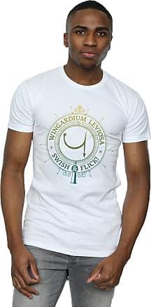 Harry Potter Mens Wingardium Leviosa Spells Charms T-Shirt XXX-Large White