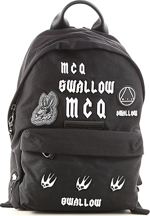 ef985ea31991f Alexander McQueen Backpack for Men On Sale in Outlet, Black, Cotton, 2017,