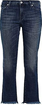 Love Moschino Love Moschino Woman Cropped Embellished Mid-rise Bootcut Jeans Mid Denim Size 27