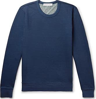 Orlebar Brown Pierce Mélange Loopback Cotton-jersey Sweatshirt - Navy