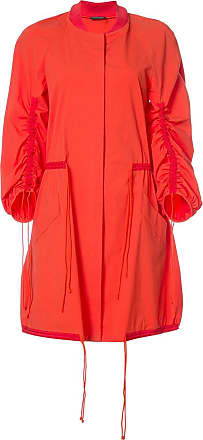 Natori drawstring sleeve coat - Red