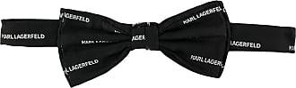 Karl Lagerfeld Gravata borboleta com logo - Preto