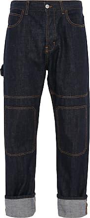 J.W.Anderson Calça jeans com barra dobrada - Azul