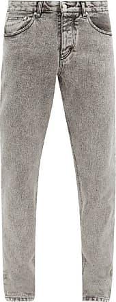Ami Ami - Bleached Slim-fit Jeans - Mens - Grey