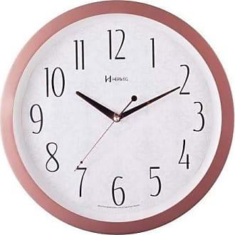 Uhren Herweg Relógio Parede Herweg Silencioso Rosê Branco Redondo Moderno