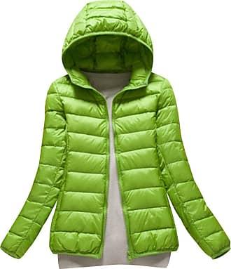 Isshe Womens Down Puffa Jacket with Hood Women Ladies Winter Hooded Padded Coats Down Puffer Quilted Coat Jackets Bubble Coat Overcoat Womens Parka Lightwei