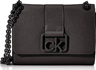 Calvin Klein Ck Signature Conv Crossbody Md, Womens Cross-Body Bag, Black, 1x1x1 cm (W x H L)