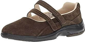 Propét Propet Womens Twilight Mary Jane Flat, Olive Suede, 6H Wide US