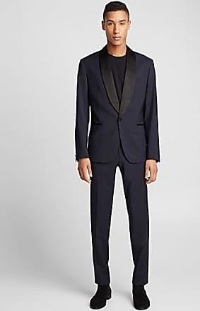 J.Lindeberg Black satiny accent blue tuxedo