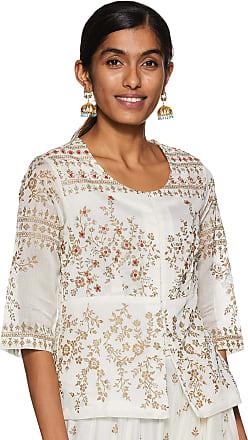 Biba Womens Cotton Straight Kurta (PUJA COL15035OFF White_ Owht_ L (36))