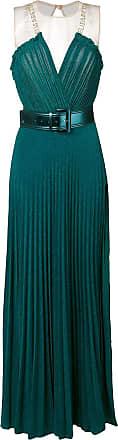 Elisabetta Franchi belted evening gown - Blue