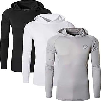 Jeansian Mens 3Pack UPF 50+ Sun Protection Hoodie Long Sleeve Performance Hiking Running Fishing T-Shirt Tee Shirt Tshirt LA271_PackC_M