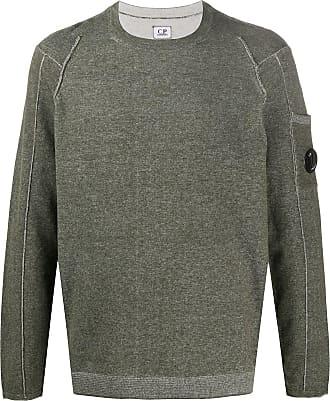 C.P. Company Suéter com placa de logo - Verde