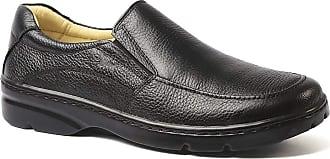 Doctor Shoes Antistaffa Sapato Masculino 5300 em Couro Floater Preto Doctor Shoes-Preto-38
