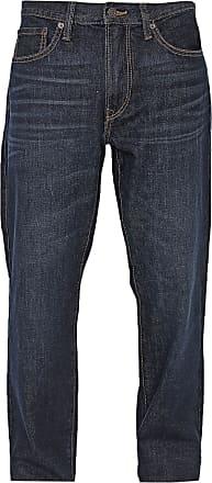 GAP Calça Jeans GAP Reta Estonada Azul-Marinho