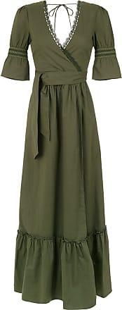 Isolda Vestido longo Mia com amarração - Militar