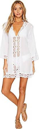 La Blanca Womens Lace V-Neck Tunic Dress, White/Island Fare Print, Extra Large