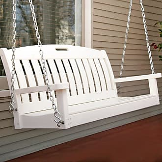 POLYWOOD Outdoor POLYWOOD Nautical 4 ft. Recycled Plastic Porch Swing - White - NS48WH