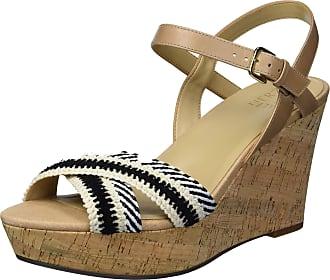Naturalizer Womens Zia2 Black White Ankle Straps 8.5 M