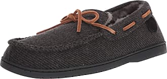 Dearfoams Mens Victor Slipper, Black, 8 UK