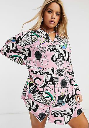 Collusion Plus intuition print shirt dress-Multi
