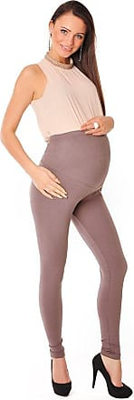 Purpless Maternity Leggings Pregnancy Belly Support Stretchy Long Over Bump Cotton Trousers for Pregnant Women 1050 (18, Cappuccino)