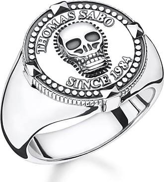 Acotis Limited Thomas Sabo Sterling Silver Thomas Sabo Rebel 1984 Skull Signet Ring T