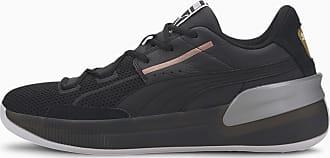 Puma Womens PUMA Clyde Hardwood Metallic Basketball Shoe Sneakers, Black/Silver, size 10.5, Shoes