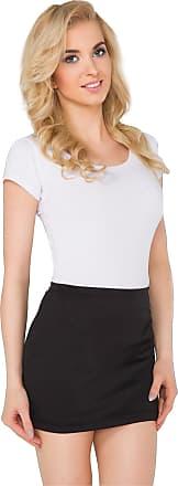 FUTURO FASHION Womens Pencil Mini Skirt Stretchy Summer Elasticated Bodycon Plus Sizes 8-22 PA11 Black