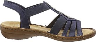 Rieker Womens 60800-14 Closed Toe Sandals, Blue (Baltik 14), 6.5 UK