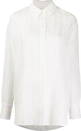 Victoria Beckham Camisa oversize con listas de encaje