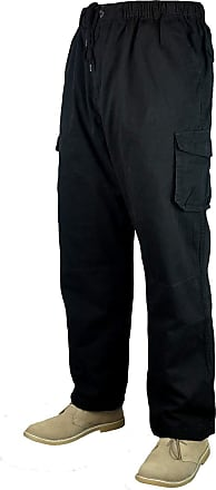 Espionage Big Mens Black Essex Cargo Pants 29 31 IL 2XL 3XL 4XL 5XL 6XL 7XL 8XL, Size : 6XL_and_31&QUOT_Leg