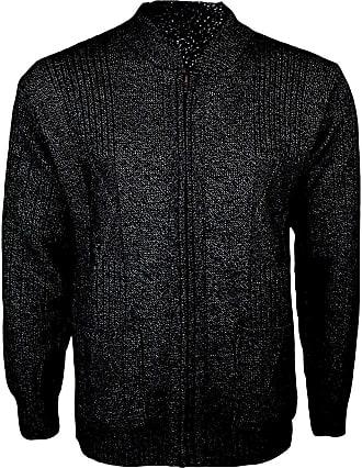Mens Classic Zip Up Vintage Plain Knitted Grandad Cardigan Jumper UK M 4XL
