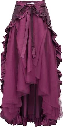 Belle Poque Ladies Girls Middle Ages Vintage Skirt Irregular Steampunk Gothic Skirt Purple XL