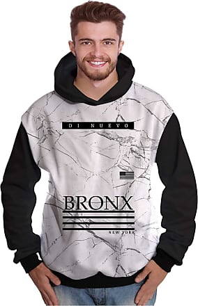 Di Nuevo Blusa de Moletom New York Bronx Branca Di Nuevo